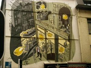 Brussels street art..